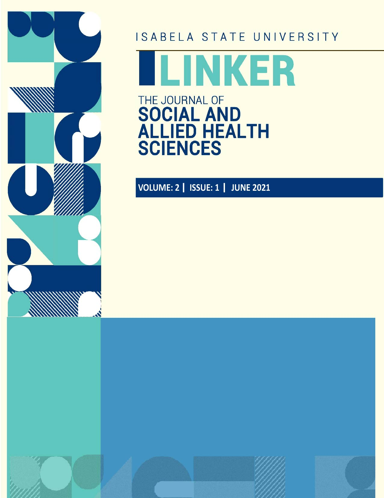 View Vol. 2 No. 1 (2021): The Journal of Social and Allied Health Sciences